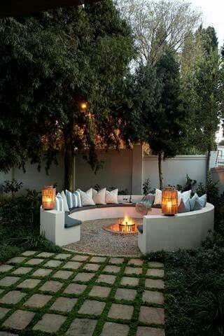 Fire Pit Seating Ideas 25
