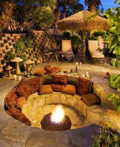 Fire Pit Seating Ideas 81