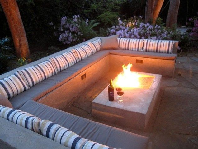 Fire Pit Seating Ideas 96