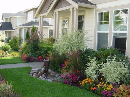 Flower Beds In Front Of House 1