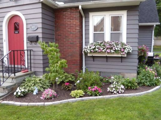 Flower Beds In Front Of House 13