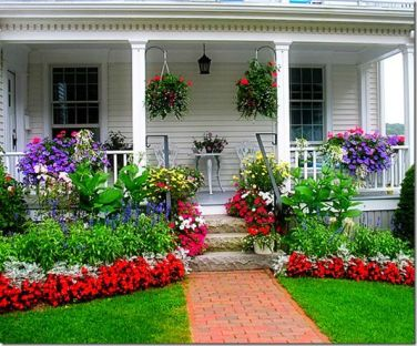 Flower Beds In Front Of House 130