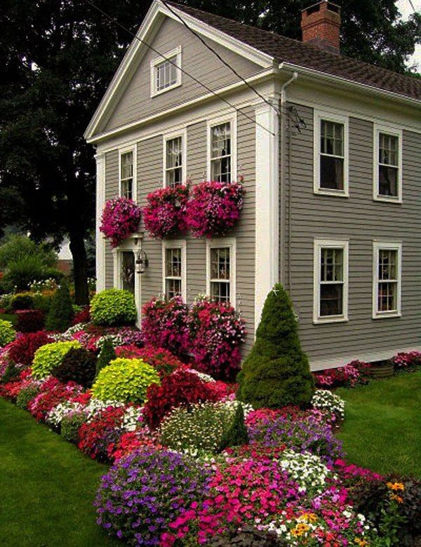 Flower Beds In Front Of House 96