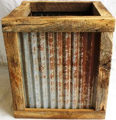 Reclaimed Barnwood Containers