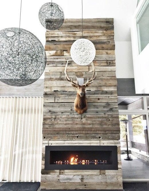 Reclaimed Wood Fireplace 102