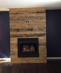 Reclaimed Wood Fireplace 111