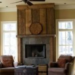 Reclaimed Wood Fireplace 124