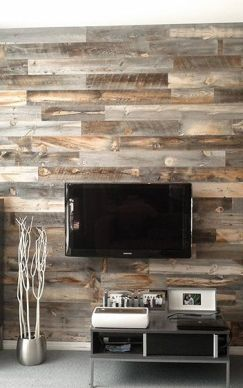 Reclaimed Wood Fireplace 126