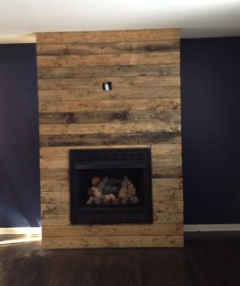 Reclaimed Wood Fireplace 13