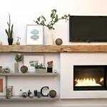 Reclaimed Wood Fireplace 130