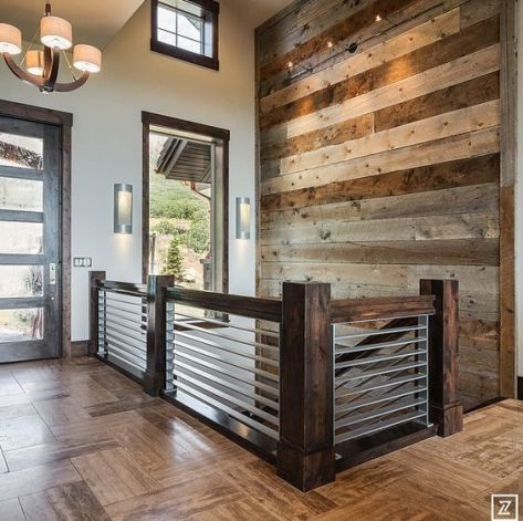 Reclaimed Wood Fireplace 134