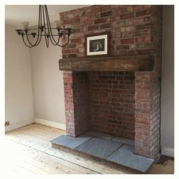 Reclaimed Wood Fireplace 137