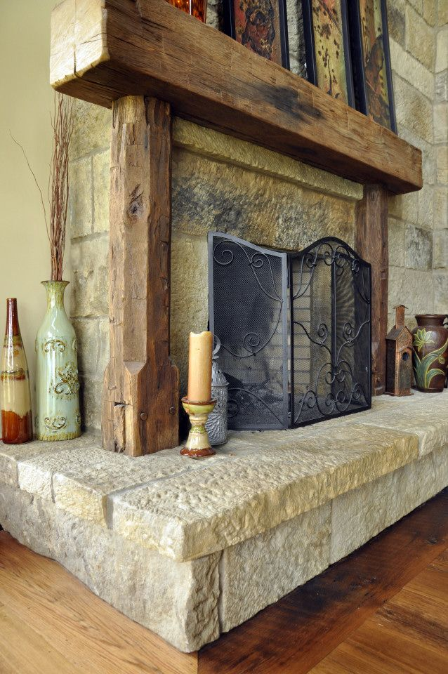Reclaimed Wood Fireplace 139