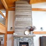 Reclaimed Wood Fireplace 148
