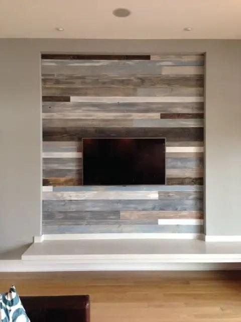 Reclaimed Wood Fireplace 20