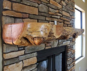 Reclaimed Wood Fireplace 21