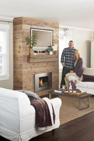 Reclaimed Wood Fireplace 28