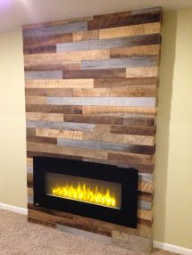 Reclaimed Wood Fireplace 29