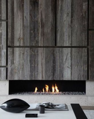 Reclaimed Wood Fireplace 33
