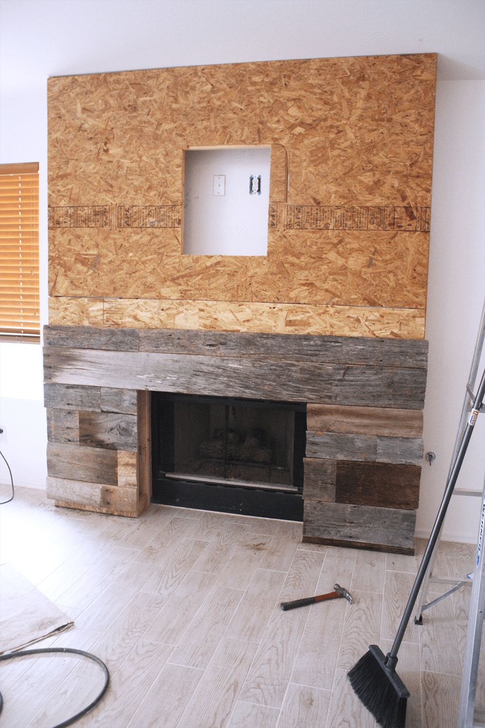Reclaimed Wood Fireplace 39