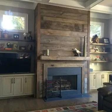Reclaimed Wood Fireplace 48