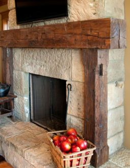 Reclaimed Wood Fireplace 56