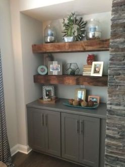 Reclaimed Wood Fireplace 58