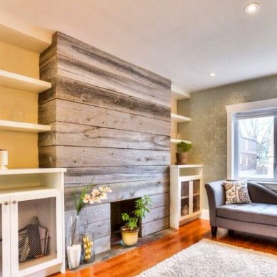 Reclaimed Wood Fireplace 59