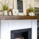 Reclaimed Wood Fireplace 62