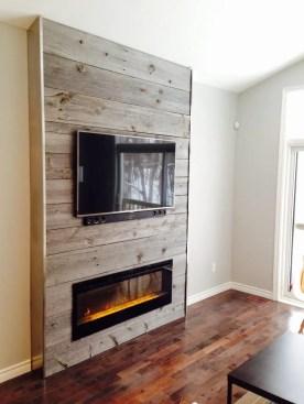 Reclaimed Wood Fireplace 69