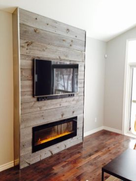 Reclaimed Wood Fireplace 69