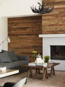 Reclaimed Wood Fireplace 7