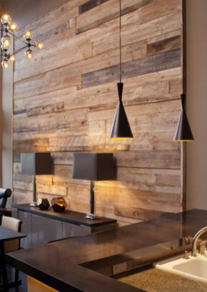 Reclaimed Wood Fireplace 70