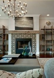 Reclaimed Wood Fireplace 75