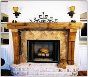 Reclaimed Wood Fireplace 76