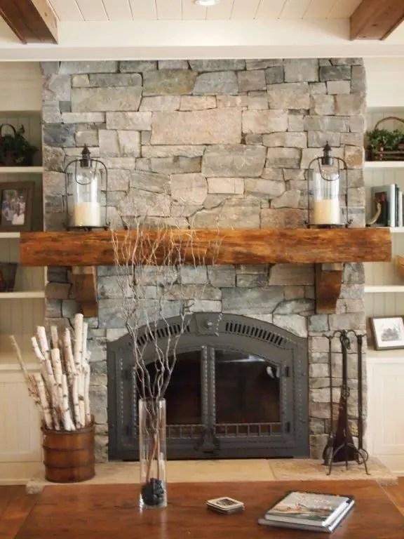 Reclaimed Wood Fireplace 78