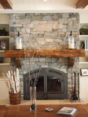 Reclaimed Wood Fireplace 78