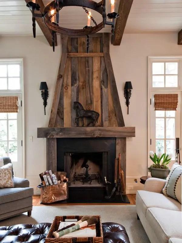 Reclaimed Wood Fireplace 8
