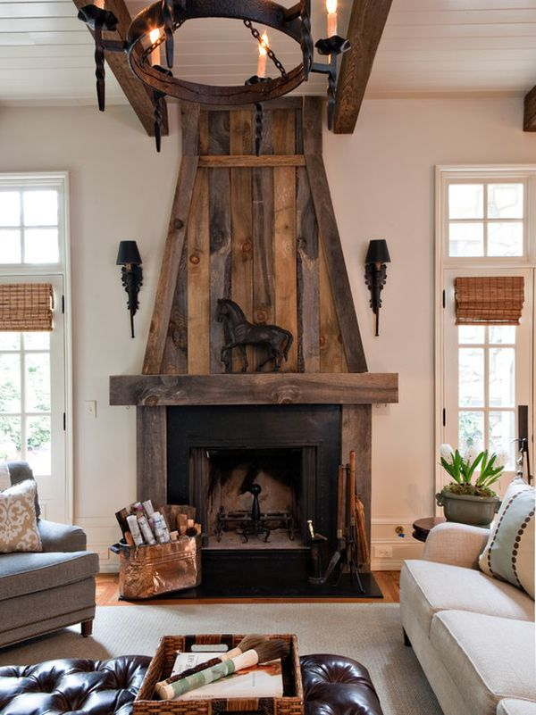 Reclaimed Wood Fireplace 8