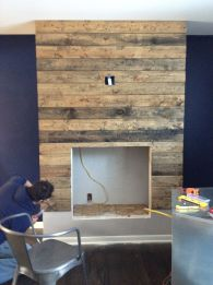 Reclaimed Wood Fireplace 82