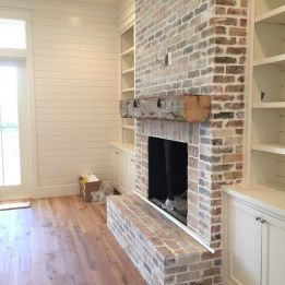 Reclaimed Wood Fireplace 83