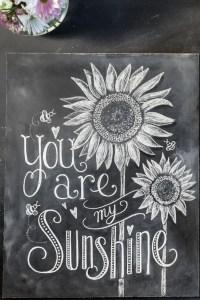 Summer Chalkboard Art 132