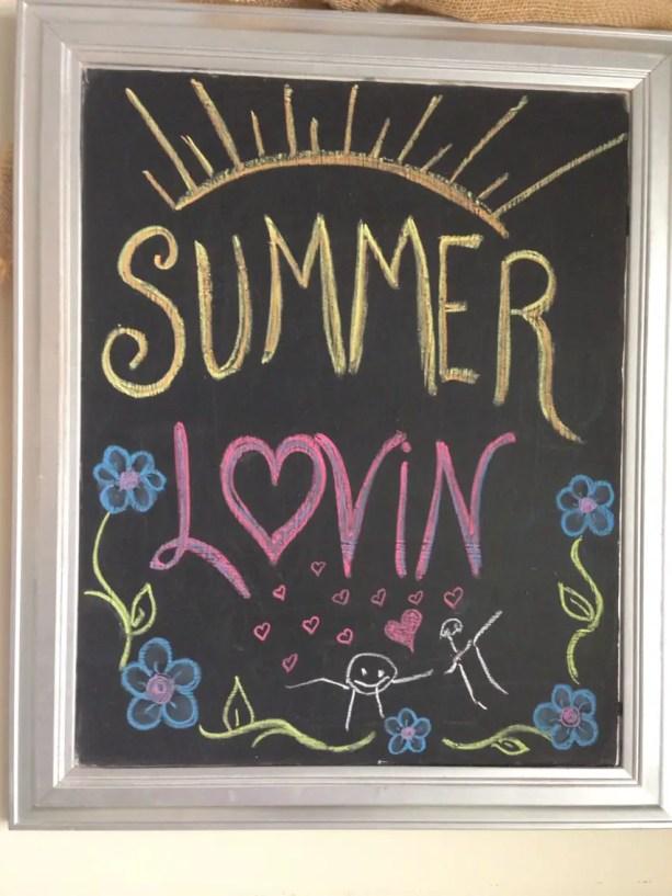 Summer Chalkboard Art 146