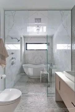 Tiny Master Bathroom 107