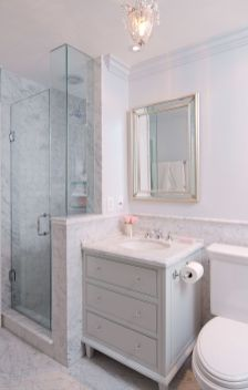 Tiny Master Bathroom 136