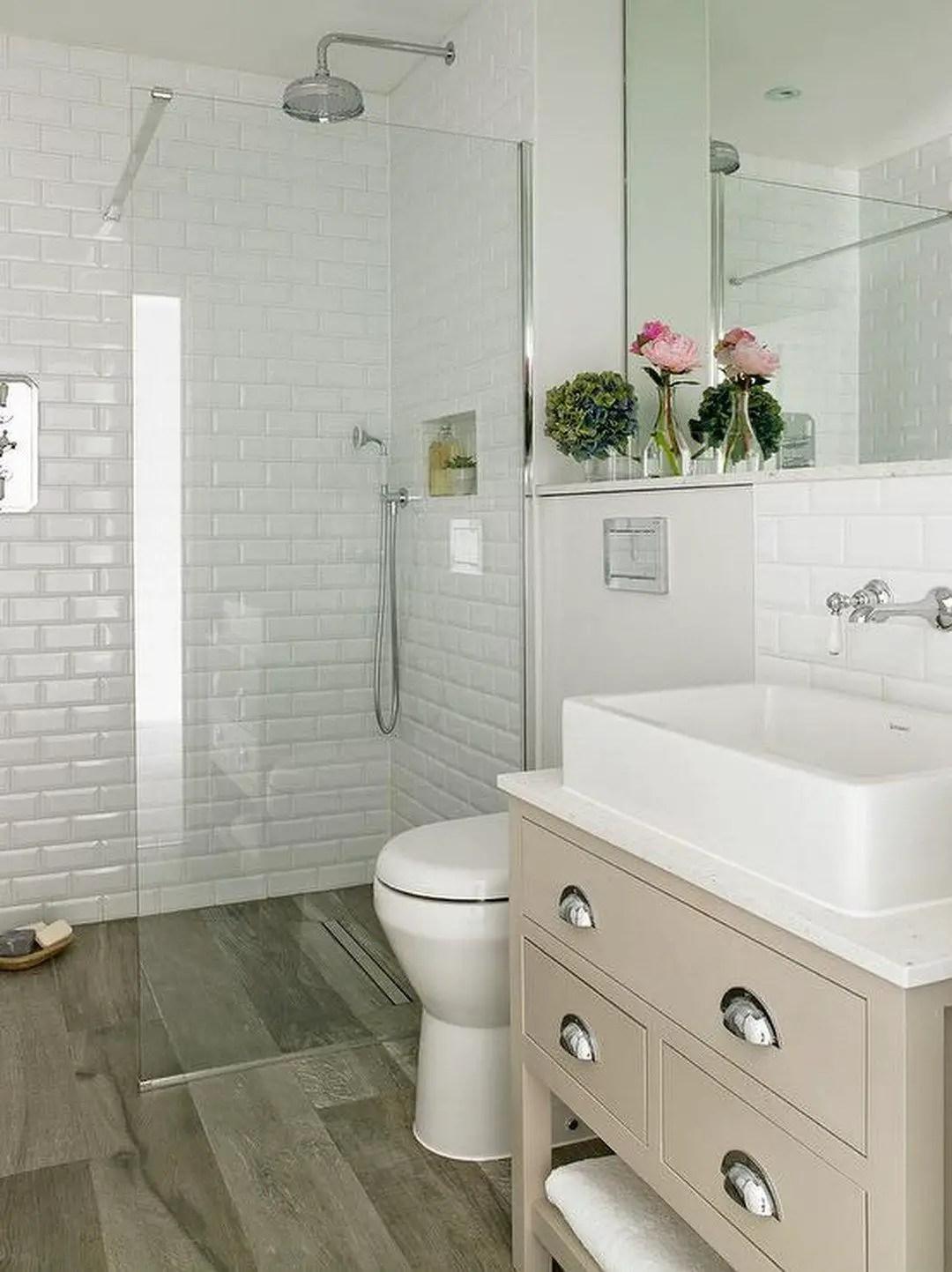 Tiny Master Bathroom 139