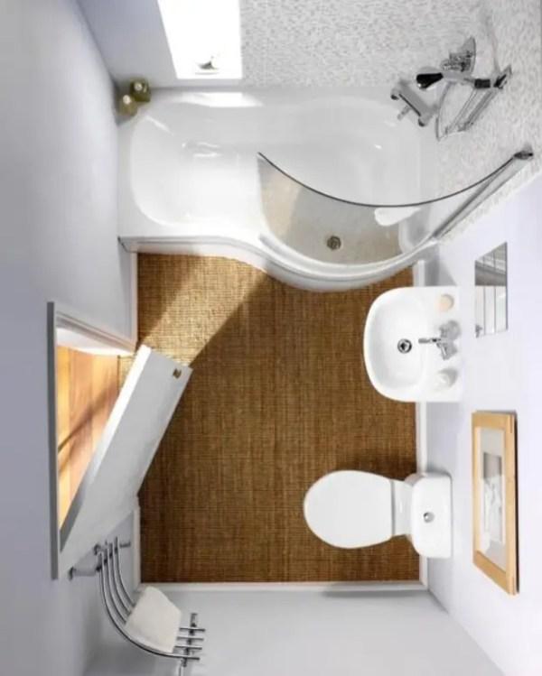Tiny Master Bathroom 144