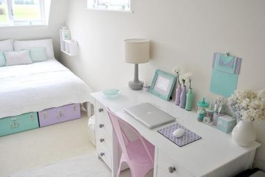 White And Pastel Bedroom 125