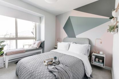 White And Pastel Bedroom 173