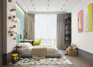 White And Pastel Bedroom 96